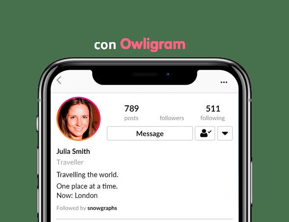 Perfil de Instagram que utliza servicio para ganar seguidores