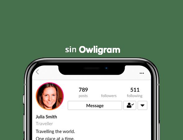 Perfil de Instagram que no utliza servicio para ganar seguidores
